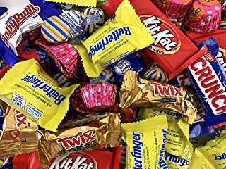 Hershey's Candy Assortment - Kit Kat Snack Size Milk Chocolate, Twix Fun Size, Kisses Gold, Reese's Peanut Butter Cups, Bu...