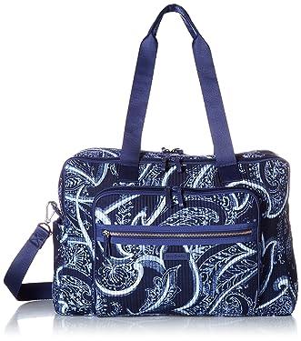 Vera Bradley Women's Signature Cotton Deluxe Weekender Travel Bag