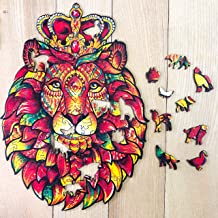 Best Celina Haydee Wooden Jigsaw Puzzle Lion - Crown Lion Puzzle for Adult, for Kids - Lion The King of Jungle Lion Puzzle Picture Review