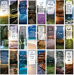Bible Verse Bookmarks with Full Scripture - Pack of 48