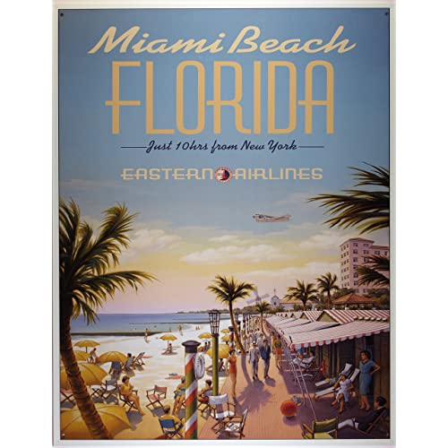VINTAGE STYLE METAL SIGN Nude Beach Florida 14 x 8