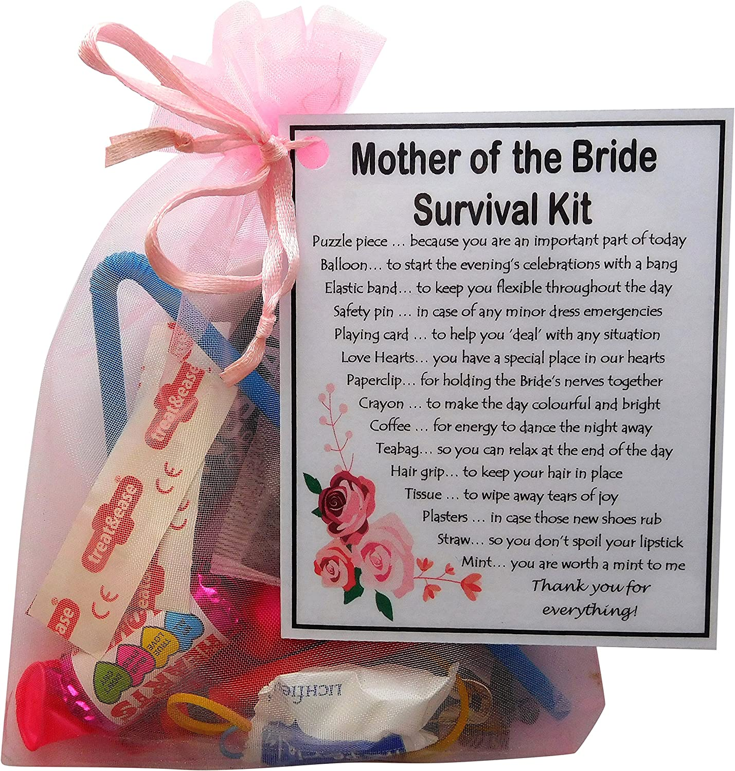 Mother of the Bride gift Mother of  Groom present Wedding Novelty Survival Kit