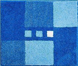 Linea Due Bath Rug, Ultra Soft and Absorbent, Anti Slip, MERKUR, Small mat 50x60 cm, Blue