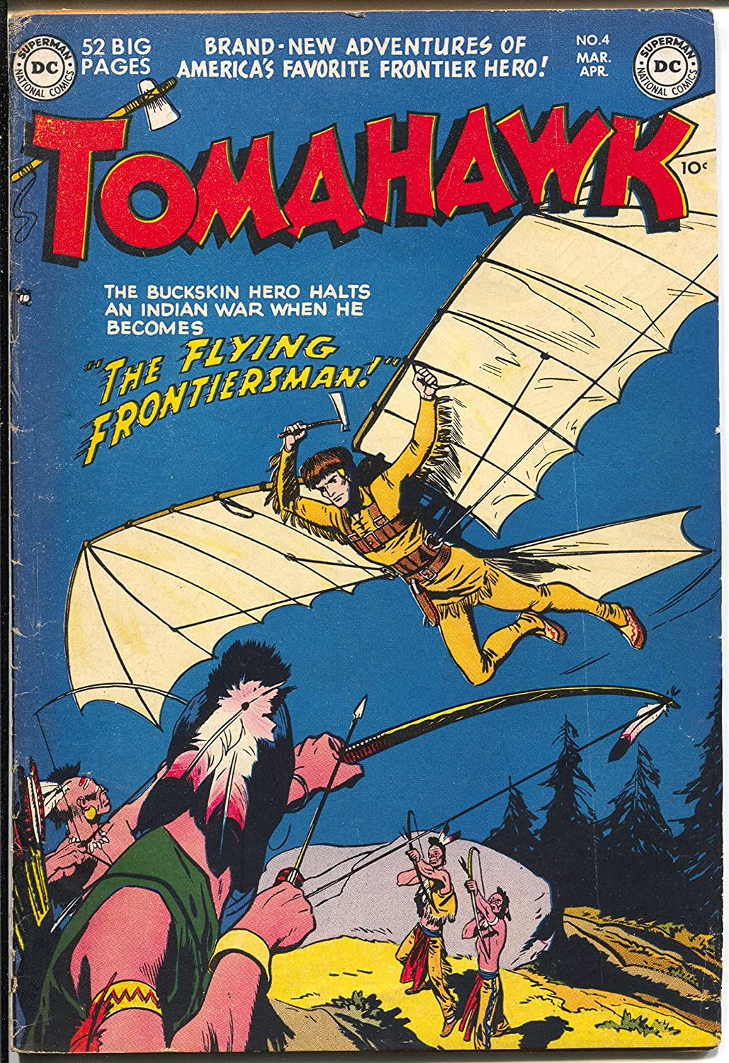 Tomahawk 2021new shipping free #4 1951-DC-Indain Rapid rise with wings-VG+ story-Tomahawk