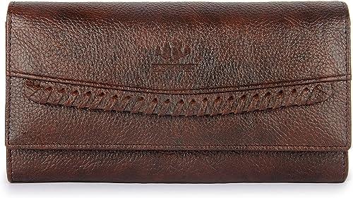 The Clownfish Leatherette Dark Brown Women's Wallet