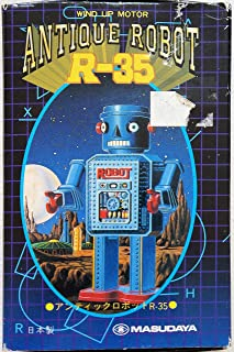Wind up Antique Robot R-35 Masudaya Tin Toy