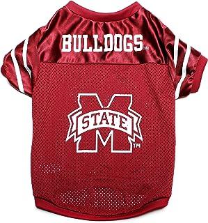قميص بشعار فريق مسيسبي ستيت بولدوجز الجامعي للحيوانات الأليفة من بت جودز Small PSMJER-804