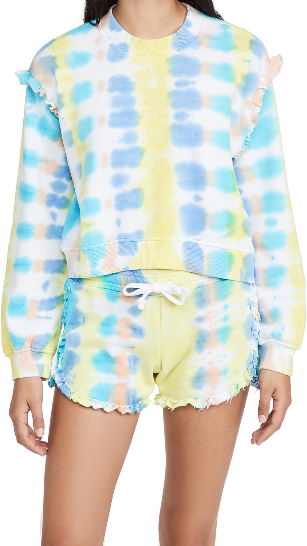 Generation Love Women's Abella Tie Dye Ruffle Sweatshirt