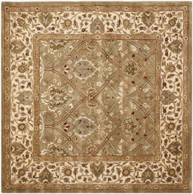 Safavieh Persian Legend Collection PL819A Handmade Traditional Light Green and Beige Wool Square Area Rug (8' Square)