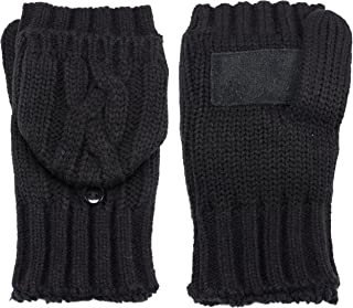 Isotoner Women's Chunky Solid Flip Top Mittens