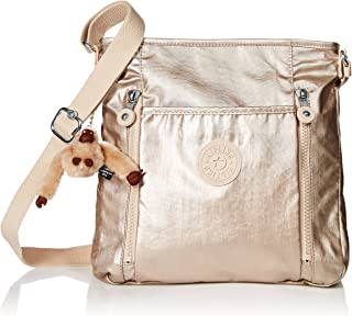 Kipling Axl Sparkly Gold Crossbody Bag