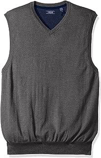 IZOD Men's Fieldhouse V-Neck Solid 12 Gauge Sweater Vest