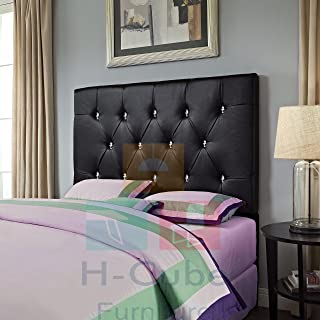 H-Cube meble ze sztucznej skóry łóżko łóżko łóżko łóżko podszafkowe montowany na ścianie (czarny - diament 15 cm King Size...