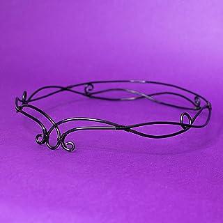 Avada elfic wire tiara, Tiara stile elfico per matrimoni, costumi, feste a tema, LARP, colore nero, Accessori capelli matr...