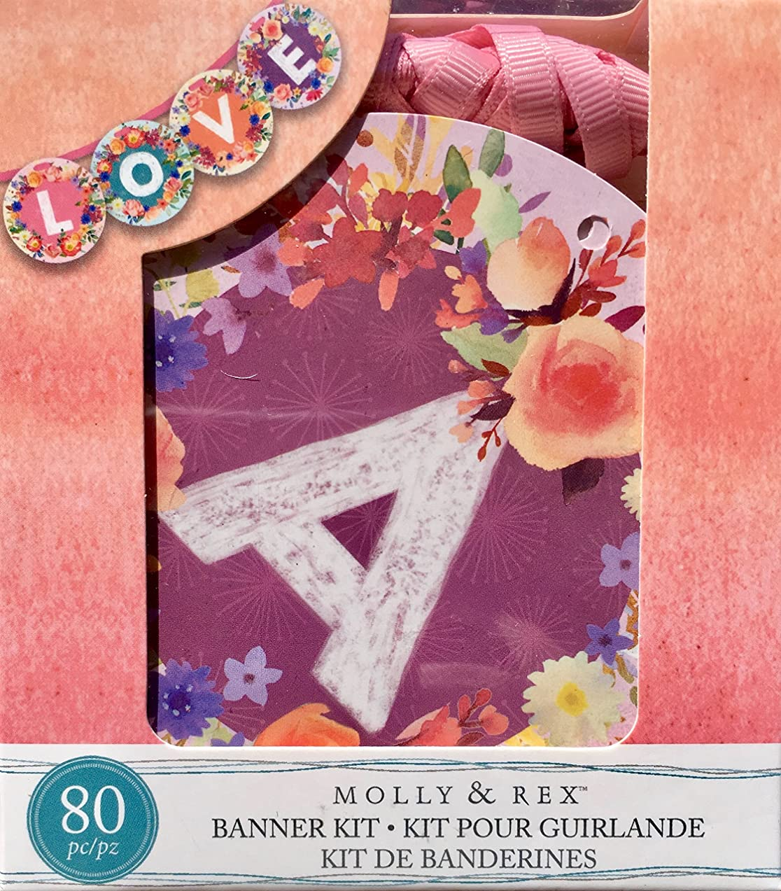 Molly & Rex Love Small Banner Kit, Peachy Pink, 74242