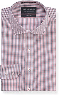 Van Heusen Euro Tailored Fit Business Shirt, Red, 43 90