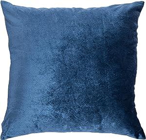Safavieh Kelsa 18-inch Blue Velvet Decorative Throw Pillow