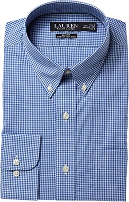 LAUREN Ralph Lauren Slim Fit No-Iron Cotton Dress Shirt