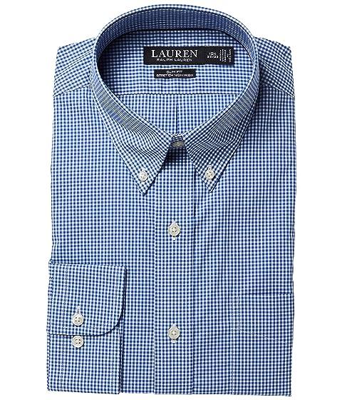 Lauren ralph lauren slim fit no iron cotton dress shirt at for No iron slim fit dress shirts