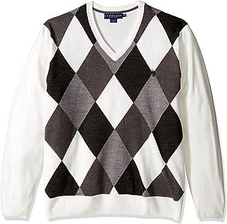 Men's Soft Acrylic Argyle V-Neck Sweater