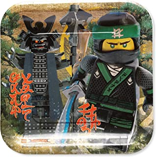 American Greetings Lego Ninjago Paper Dinner Plates, 8-Count