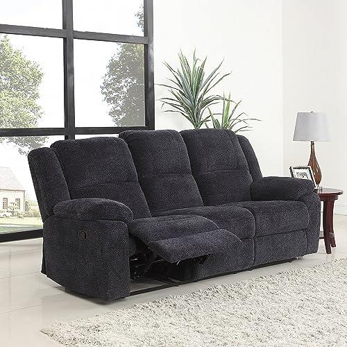 Microfiber Reclining Sofa: Amazon.com