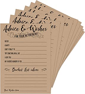 Twerp 50 Retirement Party Advice and Wishes Cards | Party Decorations and Supplies for The Newly Retired | Guest Book Alternative