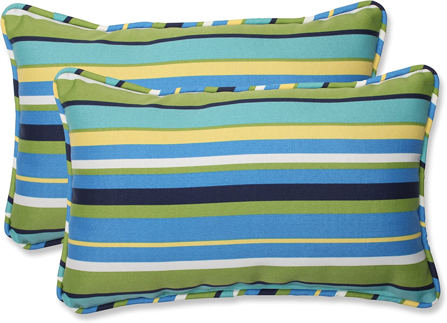 Amazon Com Pillow Perfect Outdoor Indoor Topanga Stripe Lagoon Bench Swing Cushion 45 X 18 Blue Home Kitchen