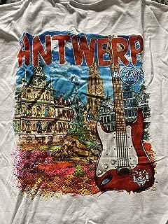Hard Rock Cafe New HRC Antwerp (Belgium) City Tee White T-Shirt
