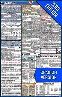 2019 California (Spanish) Labor Law Poster – State, Federal, OSHA Compliant – Single Laminated Poster