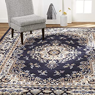 "Home Dynamix Sakarya Traditional Area Rug, 21""x35"" Rectangle, Navy Blue"