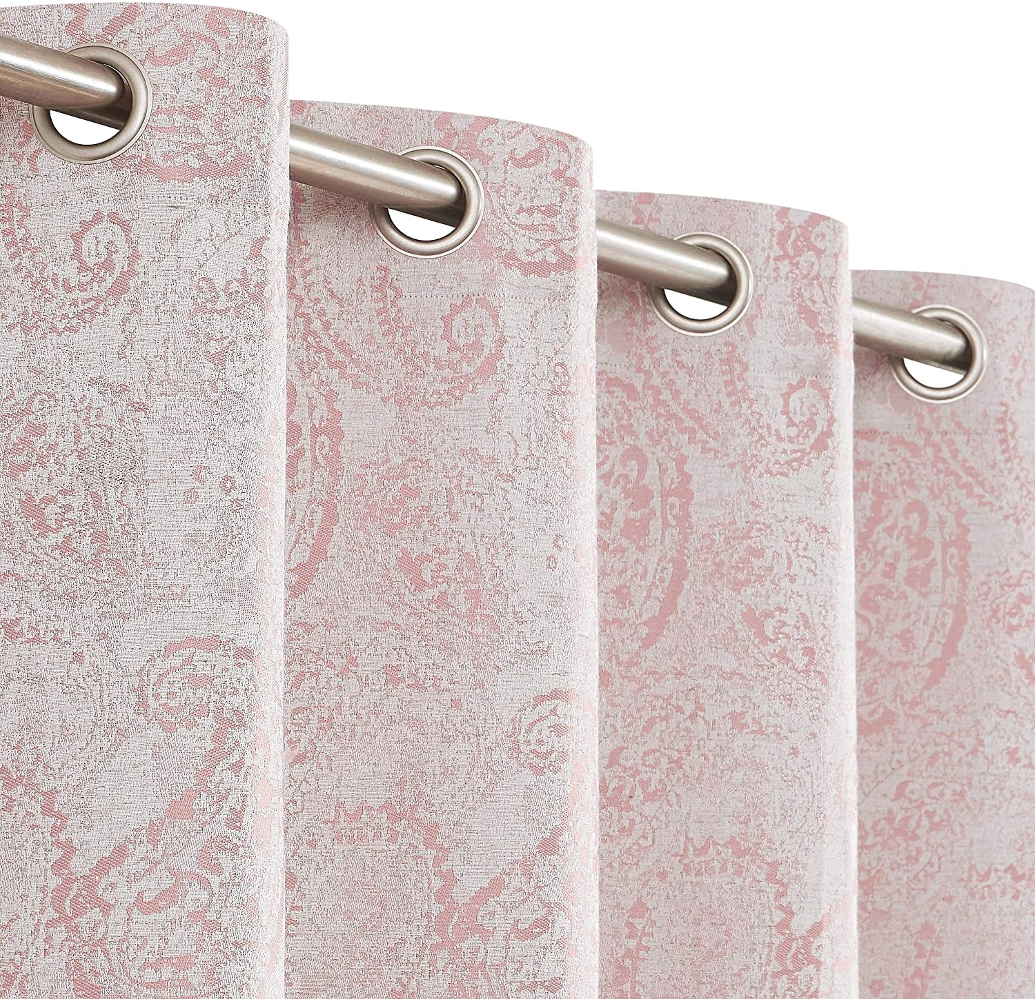 Muse Dream 100% Blackout Curtains Pink 96 Living Coral for Daily bargain sale Room Surprise price