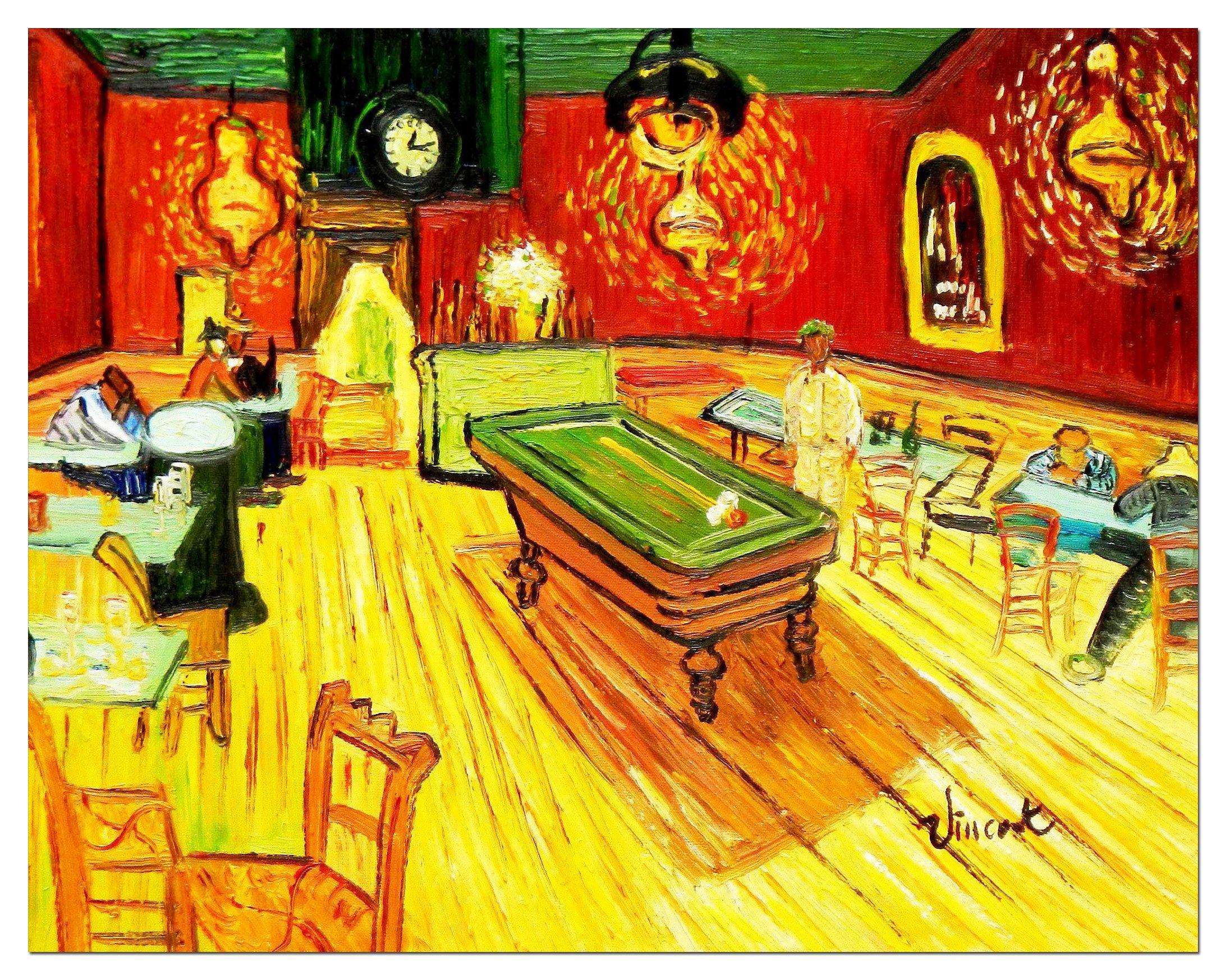elOleo 90662 a Vincent Van Gogh – Billar Salon en Arlés 30 x 40 ...