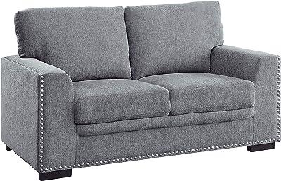 Lexicon Winona Living Room Loveseat, Gray
