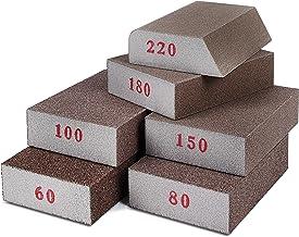 Addicted DEPO Sanding Sponges 6 Pack - Sanding Block Grade Assortment for Woodworking - Reusable Sponge Blocks for Polishi...