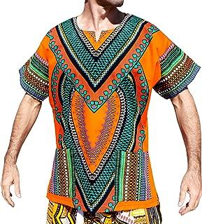 RaanPahMuang Spearhead 心形非洲吉尼衬衫鲜亮色彩 Afrika 风格