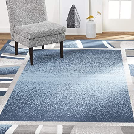 Amazon Com Nuloom Waterfall Vintage Abstract Area Rug 5 X 7 5 Blue Furniture Decor