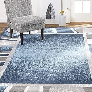 Home Dynamix Lyndhurst Rotana Modern Area Rug, Contemporary Blue/Gray/Ivory 5'2