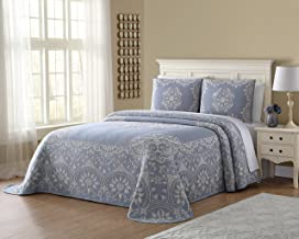 Ellison Opulence Jacquard, Full, Blue Bedspread