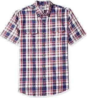 Amazon Essentials Men's Slim-Fit Short-Sleeve Two-Pocket Twill Shirt