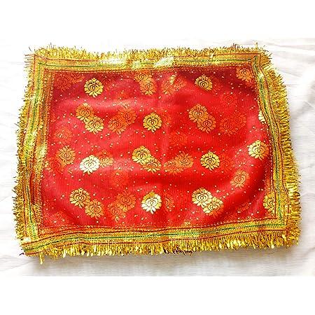 Buy Devi Mata Ki Chunari Durga Chunari Chunri Navratri Kanya Pujan Chunari Red B 9 X 12 Inch Qty 5 Online At Low Prices In India Amazon In