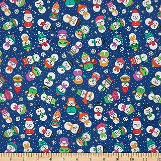 Patrick Lose Fabrics Patrick Lose Studio Snow Happy Fabric, 1, Blue, Fabric by the Yard