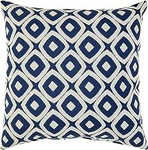 Rivet Modern Graphic Outdoor Throw Pillow - 17 x 17 Inch, Dark Denim