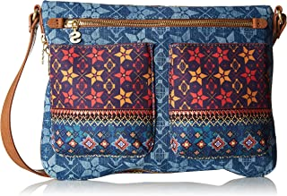 Pequeñas bandolera zigzag patrón tachuelas bandolera mini Bag bolso señora