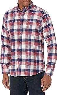 IZOD Men's Fit Advantage Performance Flannel Long Sleeve Stretch Button Down Shirt