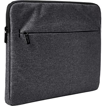 Amazon Basics Laptop Sleeve Case with Front Pocket, 15 Inch, Grey