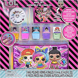 Townley Girl L.O.L. Surprise! Peel- Off Nail Polish Activity Set for Girls, Ages 5+ With 5 Nail Polish Colors, 240 Nail Ge...