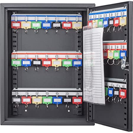 "BARSKA CB13232 Key Lock 42 Position Adjustable Key Cabinet Lock Box Black ,10.6"" x 3.1"" x 13.75"""