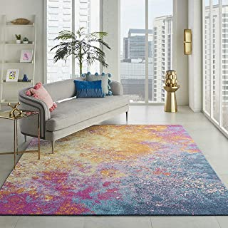 Nourison  Passion Modern Abstract Colorful Sunburst Area Rug, 8' x  10'