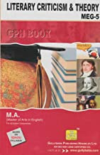 IGNOU MA English (Latest Edition 2019) MEG-5 Literary Criticism & Theory in English Medium, IGNOU Help Books with Solved Previous Years' Question Papers and Important Exam Notes